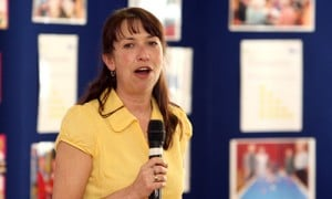 Applicant pitching their idea at a PIP style event