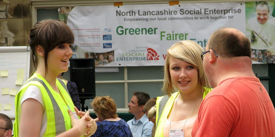 Attendees at a North Lancashire Social Enterprise meeting