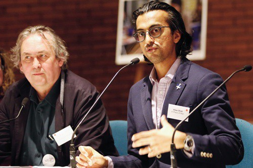 Vikas Shah and Jez Hall on the panel