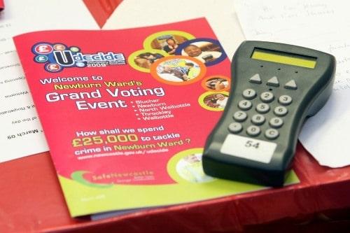 Udecide voting handset